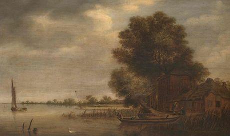 Esaias van de Velde II (?) nebo Následovník Esaiase van de Velde I (1587 – 1630) - Holandská říční krajina