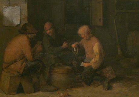 Pieter Hermansz Verelst  (asi 1618 – asi 1678) - Hráči karet