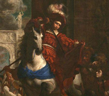 Karel Škréta - Sv. Martin se dělí o plášť se žebrákem