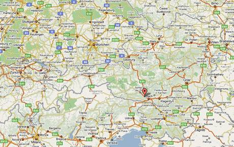 Mapa - Villach