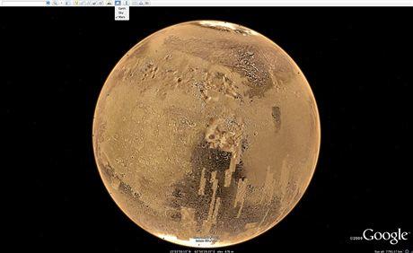 Mars v Google Earth