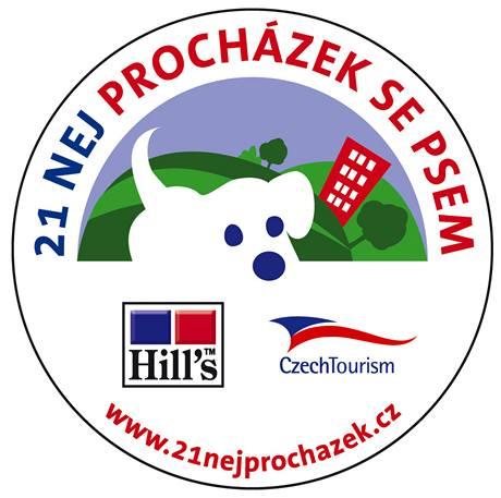 Logo akce 21 NEJ PROCHÁZEK SE PSEM.