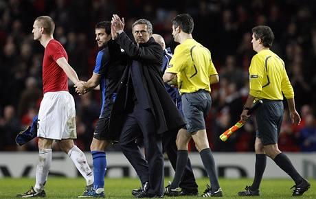 Jose Mourinho po zápase na hřišti Manchesteru United.