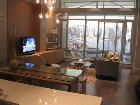 Obývací pokoj pro olympioniky ve Vancouveru