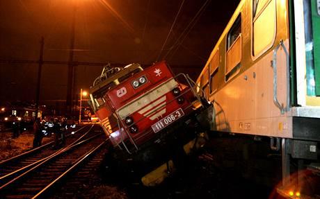 Střet posunovací lokomotivy s rychlíkem Macocha.