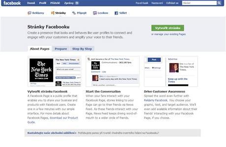 Stránky Facebooku