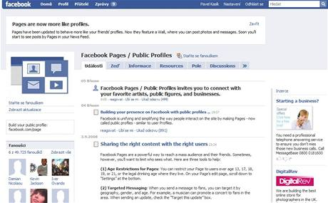 Pages / Profiles
