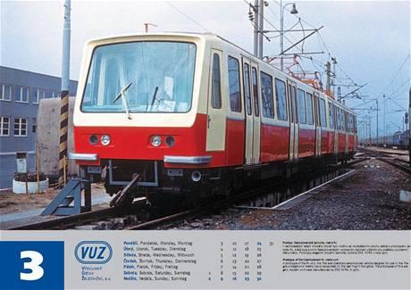 Souprava R1 na kolejích VUZ v roce 1971