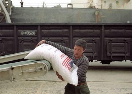 Do KLDR dorazila potravinová pomoc z USA