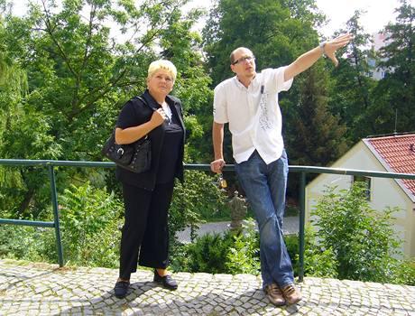 Irena na výletě s Romanem