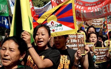 Protičínské protesty Tibeťanů v Indii