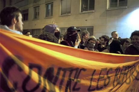 Studentské demonstrace v Paříži (18. 3. 2009)