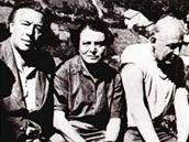 Andr� Breton, Toyen a Benjamin P�ret - 1956