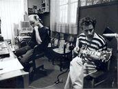 Tichá dohoda (nahrávání alba Underpop, zleva David Uher, Dan Šustr)