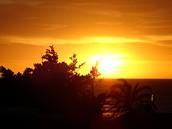 Tunisko, Mahdia. Východ slunce z hotelu