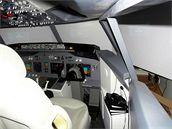 Levá část trenažéru Boeingu 737NG