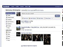 Nová Homepage na Facebooku