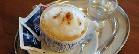 kavárna Gimmi, cappuccino