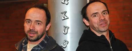 Petr a Matěj Formanovi v divadle Husa na provázku.