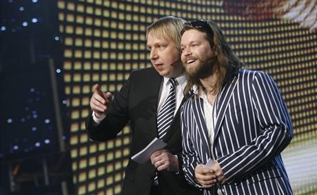 Anděl 2008 - moderátoři Richard Krajčo a Aleš Juchelka