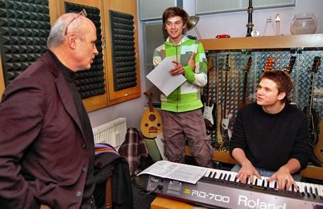 Kudykam - Michal Horáček, Ondřej Brzobohatý a Vojta Dyk ve studiu