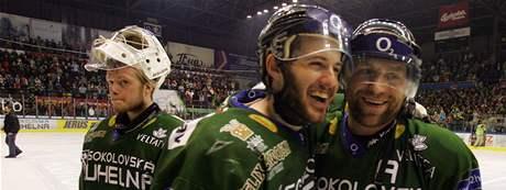 Šestý zápas semifinále play off hokejové extraligy Energie Karlovy Vary - Sparta Praha.