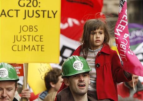 Demonstrace proti summitu G20 (28.3.2009)