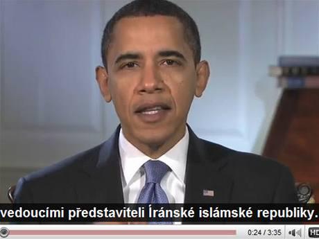 Barack Obama s automatickými českými titulky