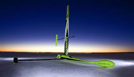 Větrem poháněný Greenbird vytvořil rychlostní rekord - 202.9 km/h