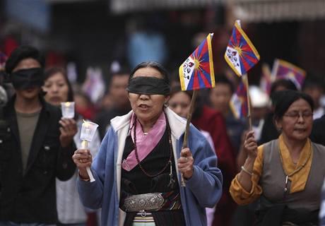 Protičínské protesty Tibeťanů v Nepálu (28. března 2009)