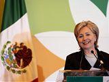 Hillary Clintonová během návštěvy v Mexiku (26. března 2009)