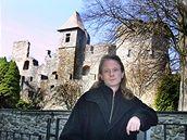 Marcel Fišer, odvolaný ředitel a autor textu, na hradě Klenová.