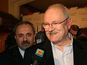 Ivan Gašparovič ve svém volebním štábu v Limbachu. (21. března 2009)