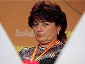 Jana Vaňhová na sjezdu ČSSD v Průmyslovém paláci (21. března 2009)