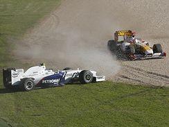 Heidfeld (vlevo) a Alonso