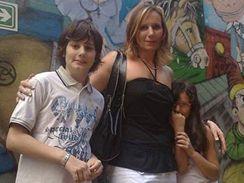 Marcela Krajníková s dětmi Lucasem a Sofií - Buenos Aires, leden 2009
