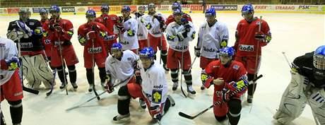 V brněnské hale Rondo trénovala česká hokejová reprezentace