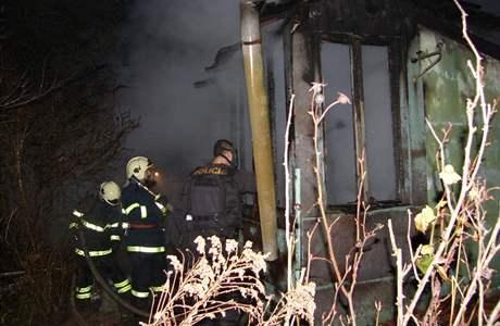 Požár zahradní chatky v Bohunicích
