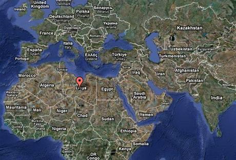 Mapa - Libye