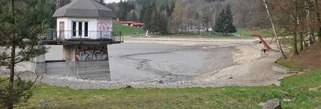 Blanenská přehrada nemá vodu