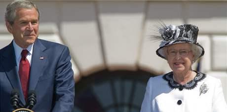 George Bush mlad�� a kr�lovna Al�b�ta II.