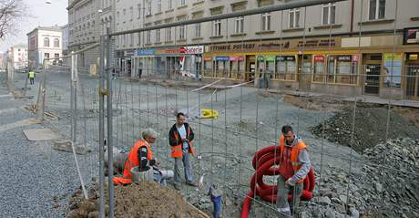 Oprava Husovy a Pekařské ulice v Brně ničí podnikání na nich