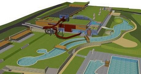 Vizualizace projektu akvaparku v Pasohlávkách