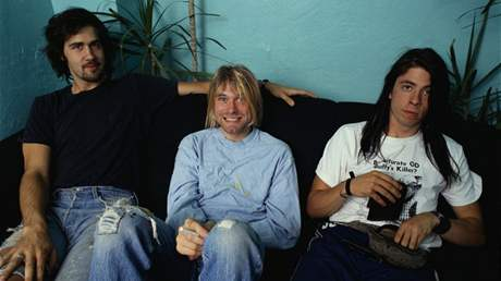 Nirvana (zleva Chris Novoselic, Kurt Cobain, Dave Grohl)