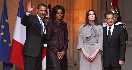 Americký prezident Barack Obama s francouzským prezidentem Nicolasem Sarkozym