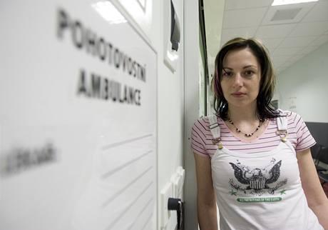 Reportérka MF DNES při testu kolínské pohotovosti.