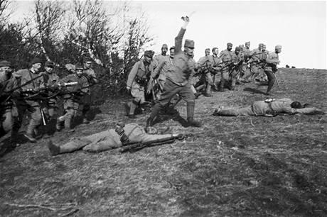 Útok pěchoty.