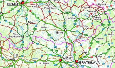 Mapa - Bratislava