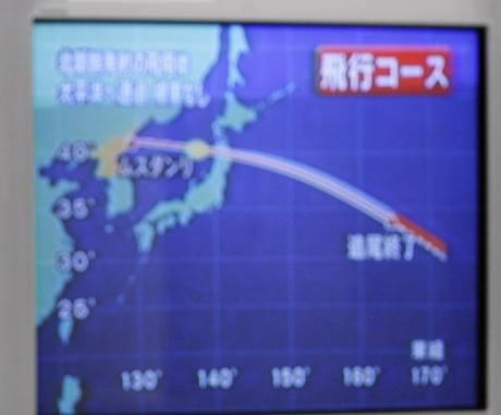 Dráha rakety dlouhého doletu Taepodong-2