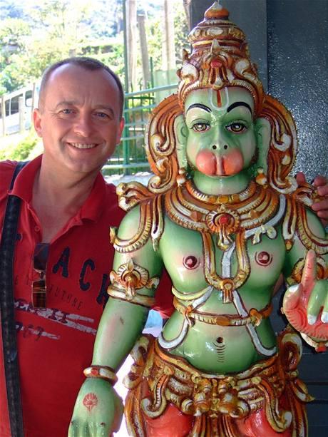 Karel Voříšek na dodolené na Srí Lance
